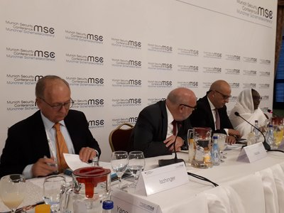 W.Ischinger and other participants at a conference in Cairo